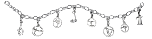 My-Beads Sterling Silber Charms Bracelet.